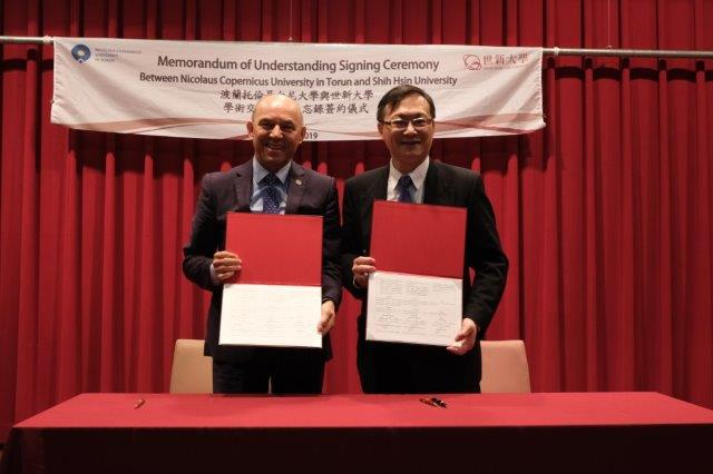 MOU signing ceremony with Nicolaus Copernicus University, Torun – an important milestone for the internationalization of education at Shih Hsin University